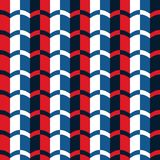 First Libo Simple Red Blue Horizontal Seamless Pattern. 