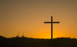 First Light Cross Royalty Free Stock Photography