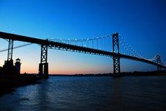 Bristol Mt Hope Bridge in Rhode Island stock photography