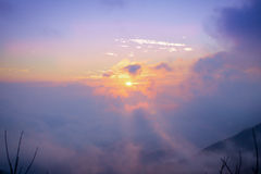 First light of the day. At doi angkang chaingmai, Thailand Royalty Free Stock Photos