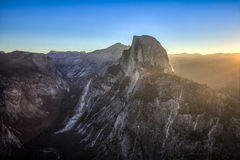 First Light on Half Dome stock photography