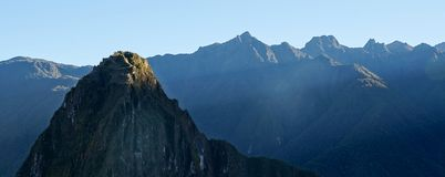 First light at Machu Picchu. royalty free stock photo