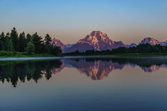 First Light at Oxbow Bend royalty free stock photo