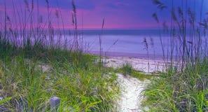 First Light: Sunrise at Amelia Island royalty free stock photography