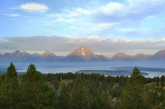 First Light, The Tetons Stock Images