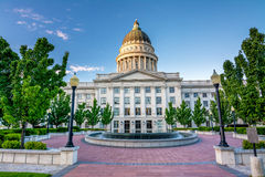 First light on the Utah state capital building Stock Photography
