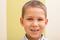 First lost tooth Royalty Free Stock Image