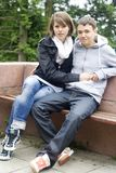First love. Young man and woman in love for the first time Royalty Free Stock Images