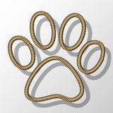 Paw Print-Rope Stock Images