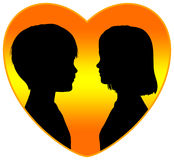 First Love. Symbol in remembrance of an event which is unforgettable Stock Images