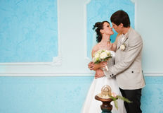 First marriage kiss Stock Photo