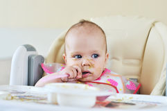 First meal Stock Photo