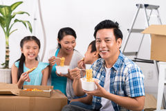 First meal in new house Stock Images