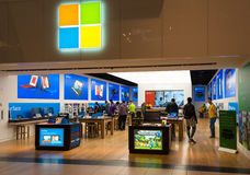 First Microsoft Corporation Store Opens in Toronto Royalty Free Stock Photo