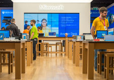 First Microsoft Corporation Store Opens in Toronto Stock Photo