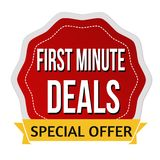 First minute deals sticker or label Royalty Free Stock Photo