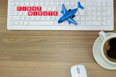 First minute to buy a plane ticket Royalty Free Stock Images