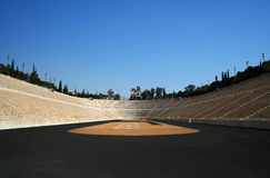 First modern Olympic stadium in Athens. Greece Royalty Free Stock Photos