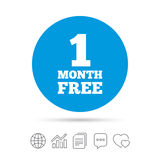 First month free sign icon. Special offer symbol. Stock Image