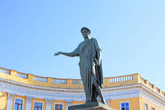 The first monument in the city of Odessa, Ukraine Royalty Free Stock Photo