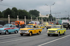 First Moscow Parade of City Transport Stock Images