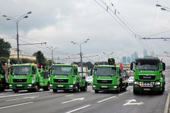First Moscow Parade of City Transport Royalty Free Stock Image