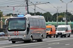 First Moscow Parade of City Transport Royalty Free Stock Images