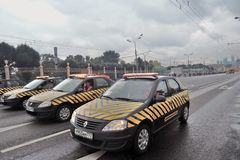 First Moscow Parade of City Transport Stock Photography