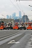 First Moscow Parade of City Transport Stock Photos