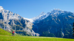 First Mountains Switzerland Stock Image