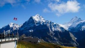 First Mountains Switzerland. First Mountains Around Grindelwald, Switzerland Stock Photo