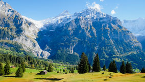 First Mountains Switzerland Stock Photo