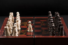 First move of a chess game Royalty Free Stock Images