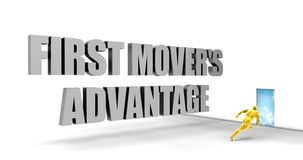 First Mover Advantage Royalty Free Stock Photo