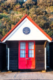 The first municipal beach hut in the UK, Bournemouth Stock Images