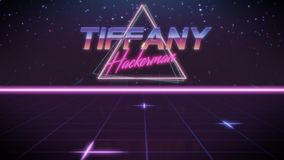first name Tiffany in synthwave style vector illustration