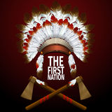 The First Nation illustration Royalty Free Stock Images