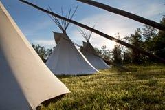 First Nation Teepee. La Ronge Saskatchewan Canada stock images