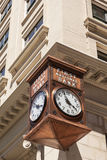 First National Bank Clock in Fort Worth Stock Photography