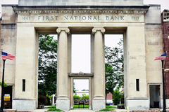 First National Bank Courtyard, Elkhorn, WI Royalty Free Stock Photography
