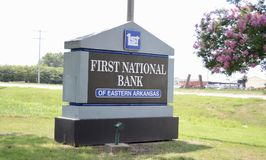 First National Bank, West Memphis, Arkansas Royalty Free Stock Photography