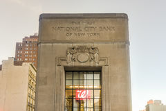 The First National City Bank of New York Royalty Free Stock Photography