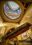 First Nations Canoe inside British Columbia Legislature in Victo. Ria, Canada for Editorial Purposes only Stock Image