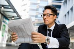 First news in the morning Stock Image