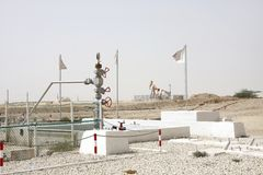 First oil well wellhead in the Persian Gulf located in Bahrain, 16 October 1931 Royalty Free Stock Photo