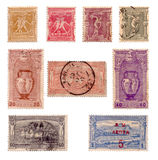 First Olympic postage stamps c.1896 Royalty Free Stock Image