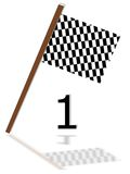 First one. The race flag for the winner Royalty Free Stock Photo