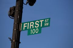 First One Hundred Sign Royalty Free Stock Photos