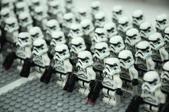 First Order Storm troopers army action figure Royalty Free Stock Photography