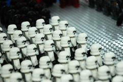 First Order Storm troopers army action figure Stock Photography